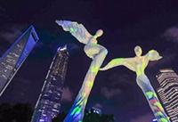 上海世纪大道景观灯光提升改造完成,展现了一个迷人的夜浦东!