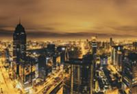 宁波,金色风的夜景