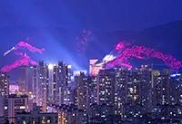 温州山体灯光秀局部试灯!将于国庆节正式亮灯