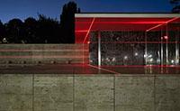 这场红色激光灯光秀,让巴塞罗那的经典建筑有了新模样