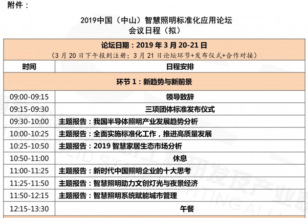关于召开2019中国(中山)智慧照明标准化应用论坛的通知