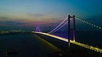虎门二桥全线亮灯