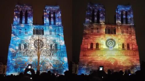 """巴黎圣母院的""""圣母之心""""灯光秀.jpg"""